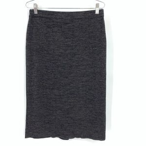 Exclusively Misook Gray Knit Pencil Skirt